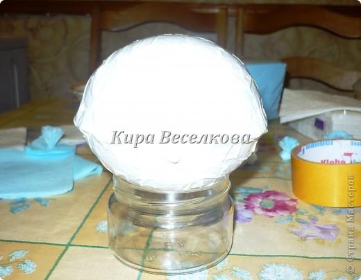 Цветочные шары из салфеток фото 5