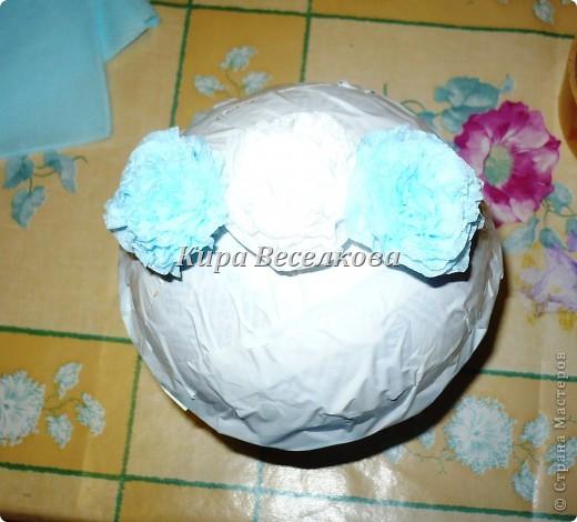 Цветочные шары из салфеток фото 10