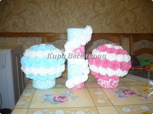 Цветочные шары из салфеток фото 1