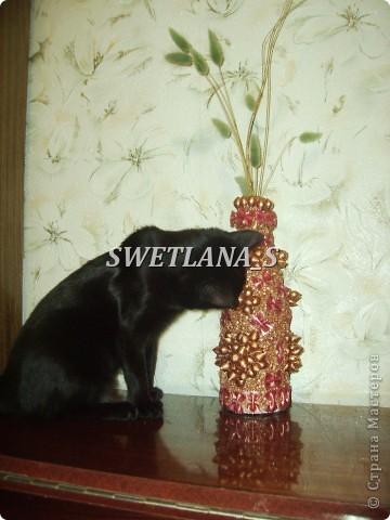 Подарочные вазочки из бутылок и макарон!!! фото 3