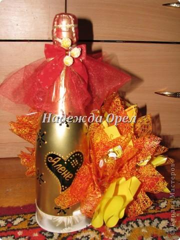 Мои новогодние бутылочки и букеты фото 8