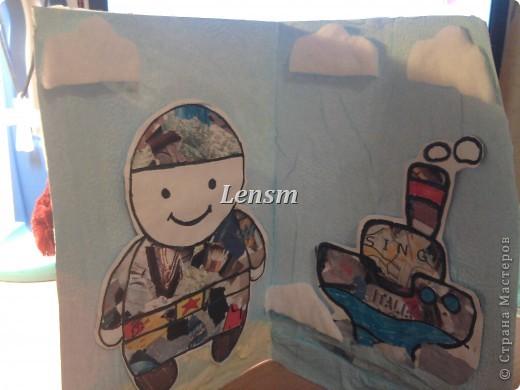 Эту открытку делал младший , в д/с. Шаблоны взяли с сайта solnet.ee фото 1