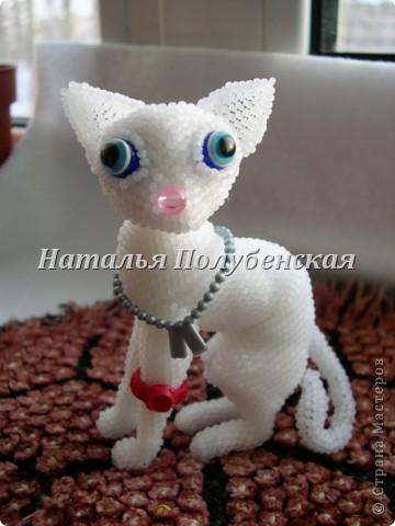 Игрушка Поделка изделие Бисероплетение Кошка Инопланетянка из бисера Бисер Бусинки фото 1.
