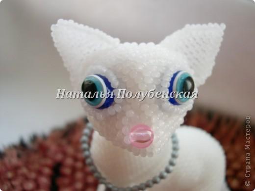 Кошка Инопланетянка (из бисера) фото 3