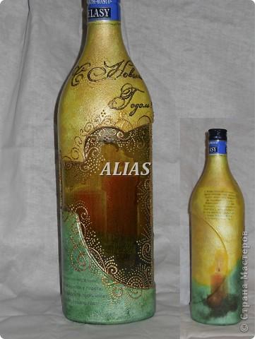 Эту  бутылочку я сделала  для родителей на 29 лет. фото 2