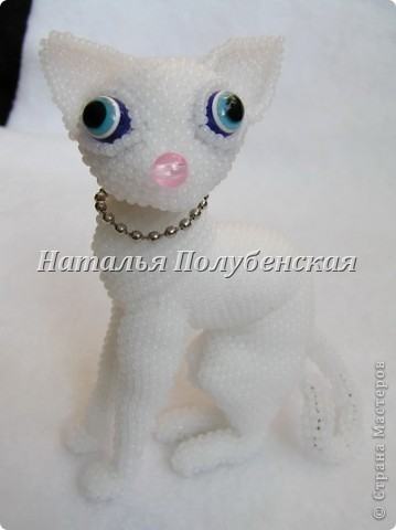 Игрушка Поделка изделие Бисероплетение Кошка Инопланетянка из бисера Бисер Бусинки фото 2.