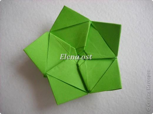 Кусудама Enrica. 60 модулей. Собираем 12 цветов-звездочек на клей по пять модулей. При квадрате 5Х5 см размер кусудамы 8 см, при 7Х7 см - 12 см. Бумагу лучше брать офисную для принтера или специальную для оригами. При копировании статьи, целиком или частично, пожалуйста, указывайте активную ссылку на источник! http://stranamasterov.ru/node/157778 http://stranamasterov.ru/user/9321  фото 26
