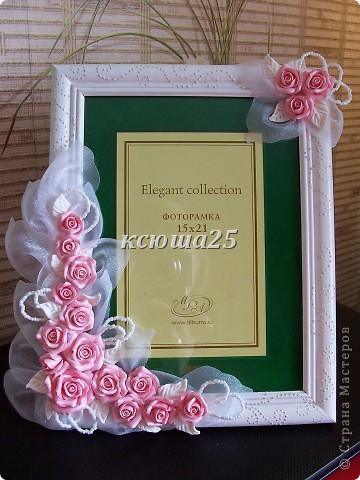 Всем привет. Вот заказала девочка себе рамочку на пол года совместной жизни,маленький такой праздник для двоих,сюрприз для мужа))) Розы сделаны из пластики запекаемой Фимо. Мк этой рамки можно посмотреть вот здесь в моем блоге http://stranamasterov.ru/node/93572 . фото 1