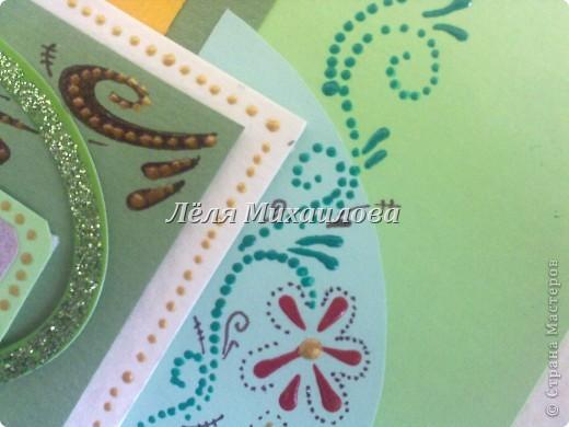 """Сегодня уже второй день весны и настроение такое зелененькое. Получилось три открытки: """"С Днем рождения"""", """"Пасха"""", """"Поздравляю"""".  фото 7"""