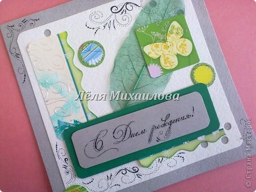 """Сегодня уже второй день весны и настроение такое зелененькое. Получилось три открытки: """"С Днем рождения"""", """"Пасха"""", """"Поздравляю"""".  фото 1"""