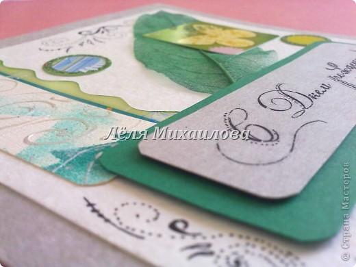 """Сегодня уже второй день весны и настроение такое зелененькое. Получилось три открытки: """"С Днем рождения"""", """"Пасха"""", """"Поздравляю"""".  фото 2"""