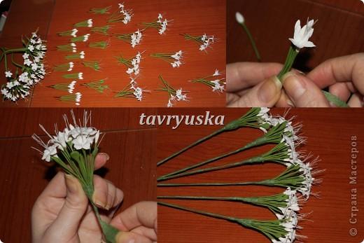 Мне очень понравилась работа AlenaGetman http://stranamasterov.ru/node/148372?tid=1629 собрала 3 веточки...но на этом не смогла остановиться...эта мелкая работа так меня увлекла,что решила сделать еще несколько..а в процессе сделала пару фотографий Конечно мои цветы несовершенны и с оригиналом не сравнить.. фото 6