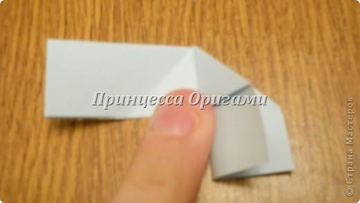 Новая Кусудама. автор - Miyuki Kawamura Берем половинку листочка 9на9, складываем, совмещаем стороны.. *использую блоки для записи СТАММ* фото 4