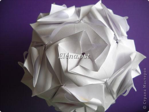 Кусудама Enrica. 60 модулей. Собираем 12 цветов-звездочек на клей по пять модулей. При квадрате 5Х5 см размер кусудамы 8 см, при 7Х7 см - 12 см. Бумагу лучше брать офисную для принтера или специальную для оригами. При копировании статьи, целиком или частично, пожалуйста, указывайте активную ссылку на источник! http://stranamasterov.ru/node/157778 http://stranamasterov.ru/user/9321  фото 53