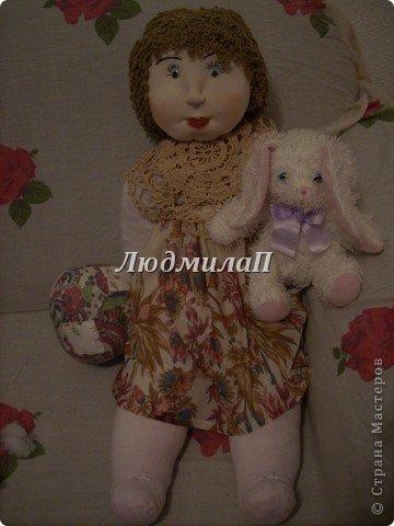 Как сшить быстро куколку?Я сшила ползунки и кофточку вместе. фото 4