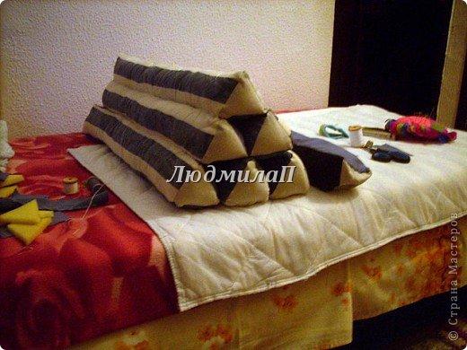 А это моя Тайская подушка.Заготовки.Уже три  из них-соединила. фото 6