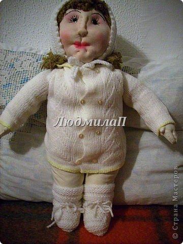 Как сшить быстро куколку?Я сшила ползунки и кофточку вместе. фото 6
