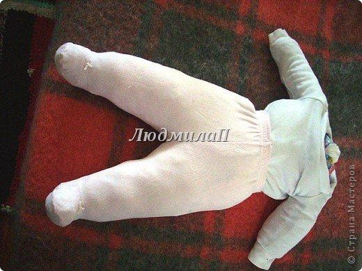 Как сшить быстро куколку?Я сшила ползунки и кофточку вместе. фото 2