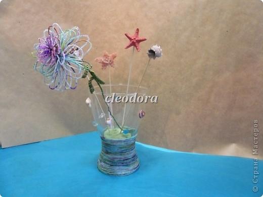Цветок, выполненный из Сахарных нитей фото 2