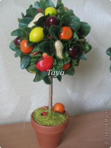 Вот такие деревца я сделала к празднику на подарки. фото 2