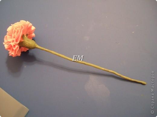 Как и обещала - сделала МК по лепке гвоздики из холодного фарфора. Оговорюсь сразу - из самодельного ХФ я делала только зелень, сам цветок -из покупной полимерной глины фирмы fleur. Заранее извиняюсь за качество фотографий т.к. делались они ночью при искусственном освещении и возможные неточности и корявости в самом МК, поскольку лепкой я занимаюсь неполный месяц...  фото 17