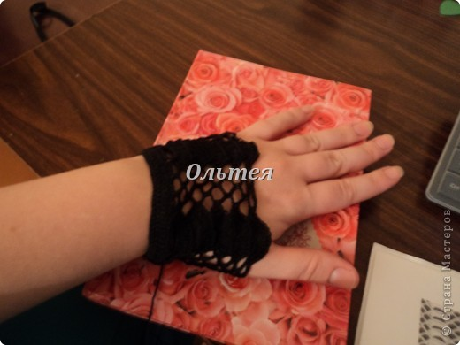 Гардероб Мастер-класс Вязание крючком МК ажурные перчатки крючком Пряжа фото 3