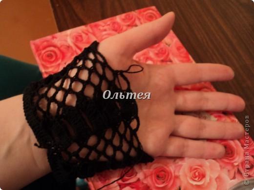 Гардероб Мастер-класс Вязание крючком МК ажурные перчатки крючком Пряжа фото 5