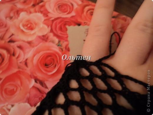 Гардероб Мастер-класс Вязание крючком МК ажурные перчатки крючком Пряжа фото 8