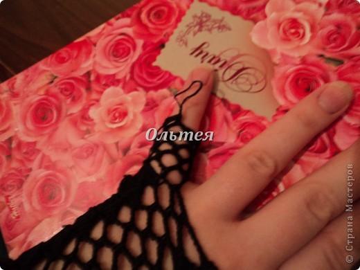 Гардероб Мастер-класс Вязание крючком МК ажурные перчатки крючком Пряжа фото 9