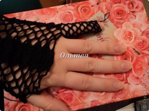 Гардероб Мастер-класс Вязание крючком МК ажурные перчатки крючком Пряжа фото 10