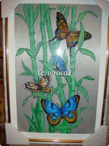 Моя работа в смешанной технике - батик + роспись по ткани акриловыми красками фото 3
