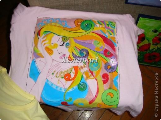 Моя работа в смешанной технике - батик + роспись по ткани акриловыми красками фото 4