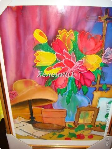 Моя работа в смешанной технике - батик + роспись по ткани акриловыми красками фото 6