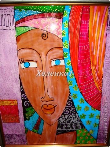 Моя работа в смешанной технике - батик + роспись по ткани акриловыми красками фото 9