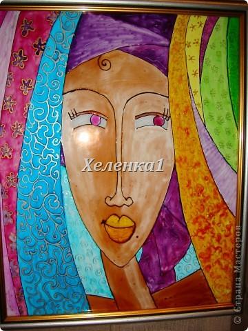 Моя работа в смешанной технике - батик + роспись по ткани акриловыми красками фото 10