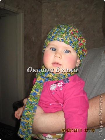 Шапочка и шарфик для маленькой модницы