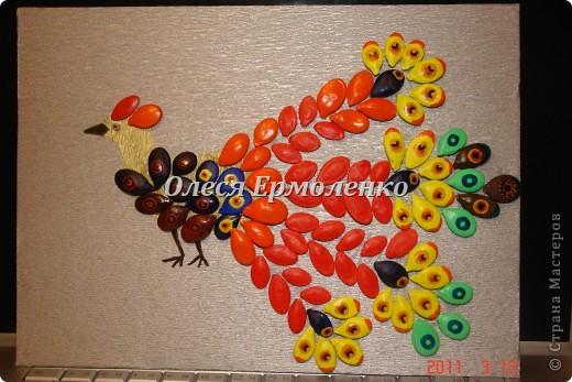 Жар-птица-символ возрождения , олицетворяющий осуществление всех желаний!Красили с дочей акриловыми красками. фото 1