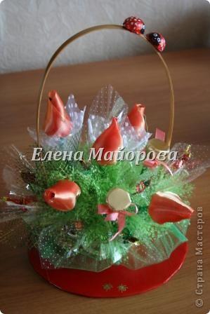 Букеты из конфет к 8 марта фото 11