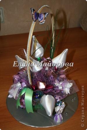 Букеты из конфет к 8 марта фото 16