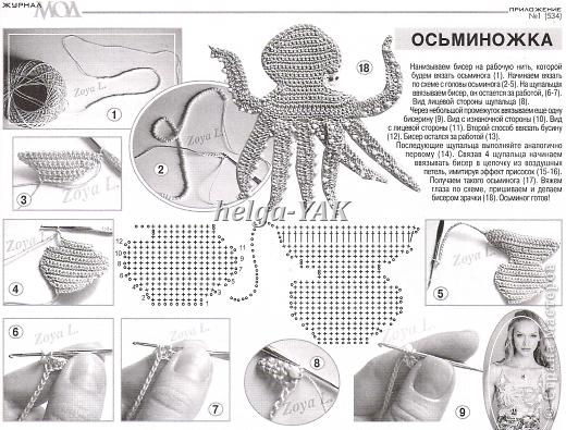 """Все детали связаны крючком из """"Ириса""""(кроме маленьких рыбок-они из мулине), приклеены к фону(ткань) клеем СУПЕР ПВА. фото 14"""