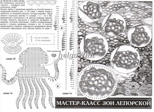 """Все детали связаны крючком из """"Ириса""""(кроме маленьких рыбок-они из мулине), приклеены к фону(ткань) клеем СУПЕР ПВА. фото 13"""