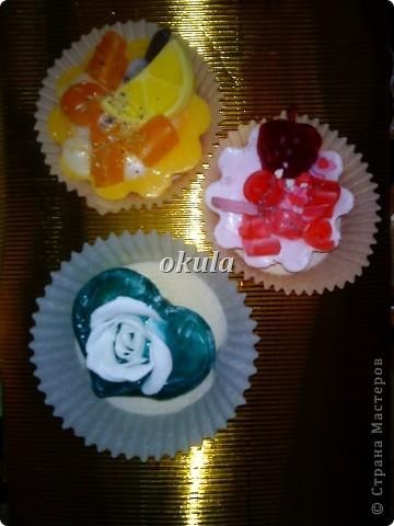 Мыльные пироженные, самое моё любимое произведение из мыла))) очень люблю их делать)))) фото 20