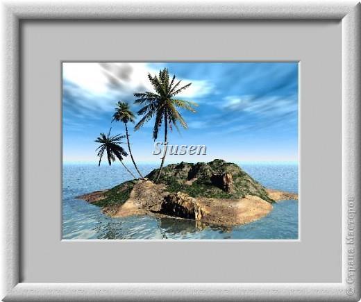 """Всем доброго времени суток! Сегодня я к Вам с новой работой, которую назвала """"Экзотика"""". Таинственный остров, пальмы, море... что может быть экзотичнее? фото 41"""