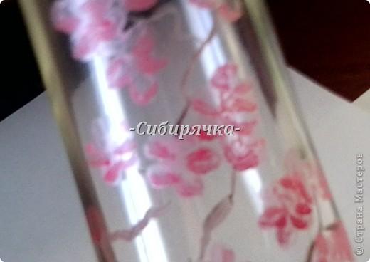 Доброго времени суток, Мастера и Мастерицы! Предлагаю Вам свой мастер-класс по росписи стеклянной бутылки. Роспись в японском стиле. Прошу прощения за качество фотографий, все они сделаны на телефон. фото 10