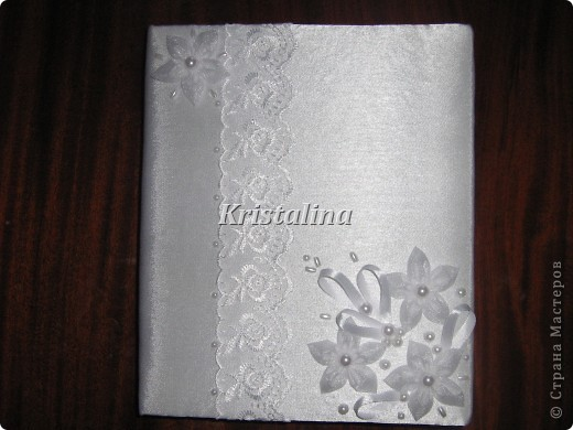 Набравшись опыта у мастеров и мастериц страны мастеров создала свою свадебную книгу пожеланий.  фото 1