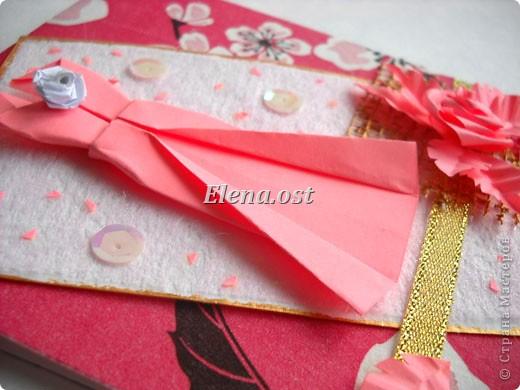 Открытка к 8 марта в технике оригами