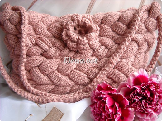 Гардероб Мастер-класс 8 марта День рождения Вязание крючком Вязание спицами Вязаная сумка из кос
