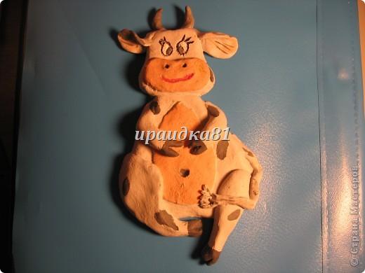 Корова из солёного теста фото 2