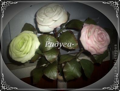 Ну и вот они мои первые розы.Мой первый букет.Наконец я его слепила.Это вторая роза. фото 3