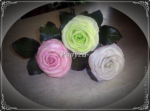 Ну и вот они мои первые розы.Мой первый букет.Наконец я его слепила.Это вторая роза. фото 4